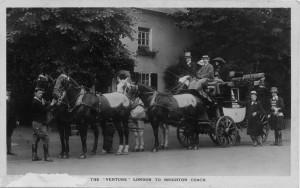 Alfred Gynne Vanderbilt at Burford Bridge Hotel © Dorking Museum