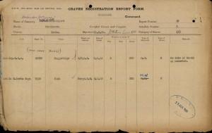 Arthur Muggeridge Graves Registration Report © CWGC.org