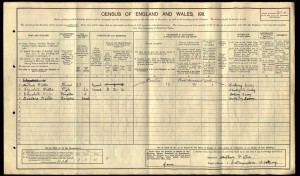 Arthur Tickner 1911 Census © Ancestry.co.uk