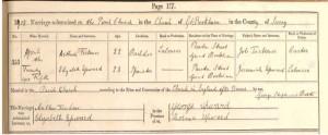 Arthur Tickner - Marriage Certificate © Ancestry.co.uk