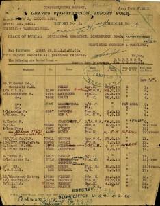 Bueth Vernon Sim Graves Registration Report © CWGC
