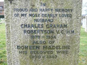 Charles Robertson Gravestone © Dorking Museum