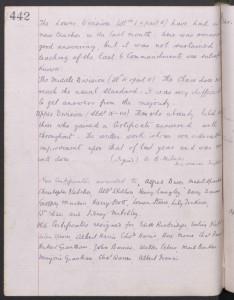 Charles Warren School Log Book 1905 © findmypast.co.uk
