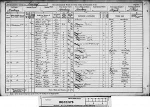 Charles William Mercer 1891 Census © findmypast.co.uk