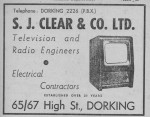SJ Clears Advert 1950