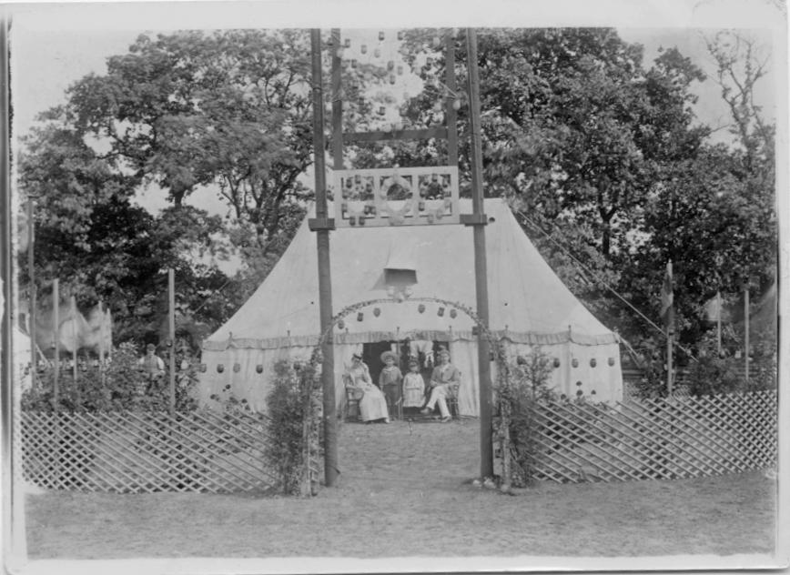 Club tents at Dorking CC camp