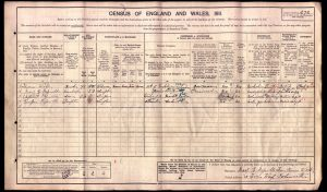 Cuthbert Reynolds 1911 Census © ancestry.co.uk
