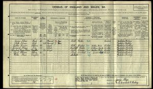 Cyril Shaw 1911 Census © Ancestry.co.uk