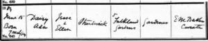 Daisy Strudwick Baptism Certificate © Ancestry.co.uk