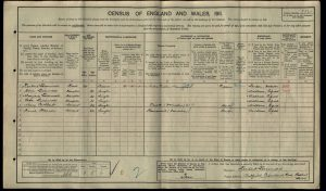 Dora Frances Livermore 1911 Census © findmypast.co.uk