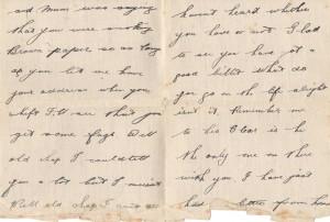 Douglas Durrant Letter 10th April 1916