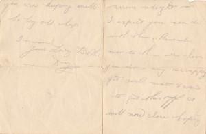 Douglas Durrant Letter 3rd March 1916