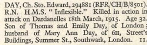 Edward Day Roll of Honour © Ancestry.co.uk