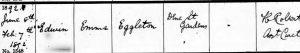 Edwin Eggleton Birth Registration Transcription © ancestry.co.uk