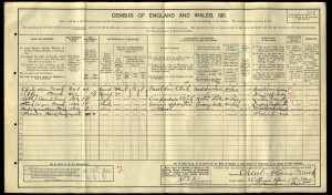 Frank French Census 1911 © Ancestry.com