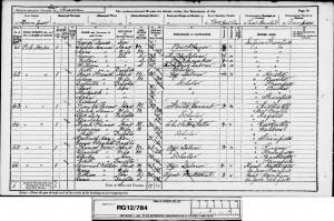 Frederick Plummer 1891 Census © findmypast.co.uk