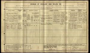 Frederick Plummer 1911 Census © findmypast.co.uk