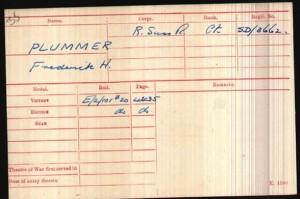 Frederick Plummer Medal Roll © ancestry.co.uk