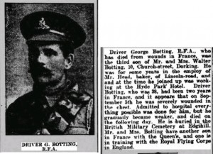 George Botting Death Notice © findmypast.co.uk