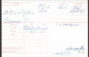 George Brickwell WW1 Medal Rolls Index Card © Ancestry.co.uk