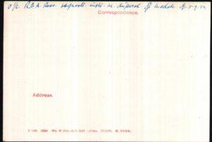 George Brickwell WW1 Medal Rolls Index Card Back © Ancestry.co.uk