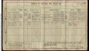 George Harold Toon 1911 Cenus © findmypast.co.uk