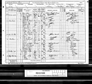 George Hodsoll 1891 Census © Ancestry.co.uk