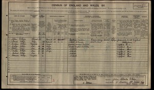 George Sydney James Whife 1911 Census © findmypast.co.uk