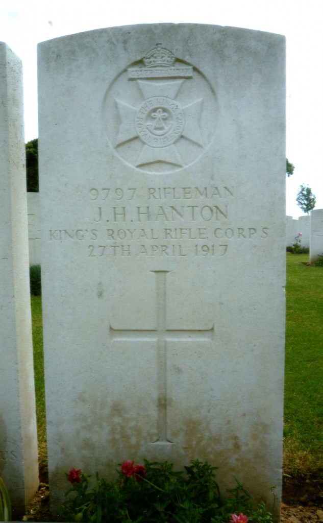Rifleman J.H. Hanton