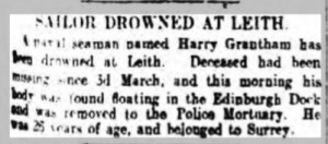 Harry Grantham Death Notice © Edinburgh Evening News