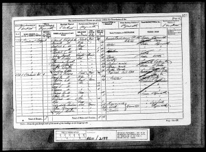 Herbert Connell Whipple 1881 Census © findmypast.co.uk