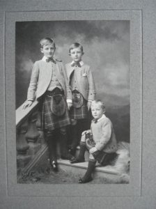 Hugh, Alan and Geoffrey Mott © Wharton & Bliss Families