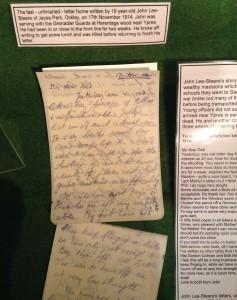 John Lee-Steere Letter