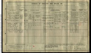 James Frederick Wells 1911 Census © findmypast.co.uk