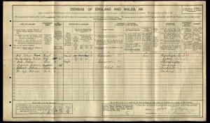 Job Tickner 1911 Census © ancestry.co.uk
