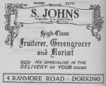 Johns Fruiterers Advert 1950