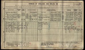 Kenneth Thomson 1911 Census © findmypast.co.uk