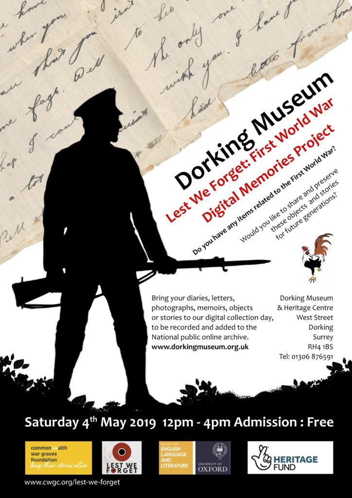 Lest We Forget Collection Day - Dorking Museum & Heritage Centre