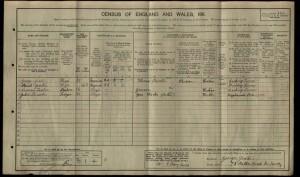 Norman Sadler 1911 Census © findmypast.co.uk
