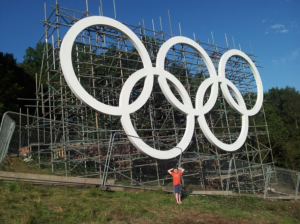 Olympic Rings Box Hill 2012