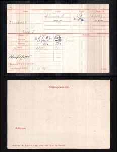 Percy Croucher medal index card © Ancestry.co.uk