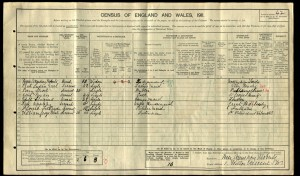 Percy Short 1911 Census © ancestry.co.uk