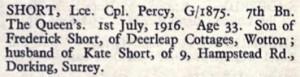 Percy Short Thiepval Memorial Roll of Honour © CWGC.org.jpg