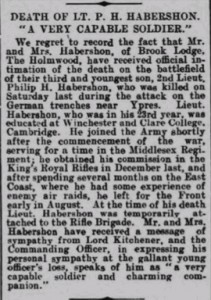 Philip Habershon Obituary © Dorking Advertiser findmypast.co.uk