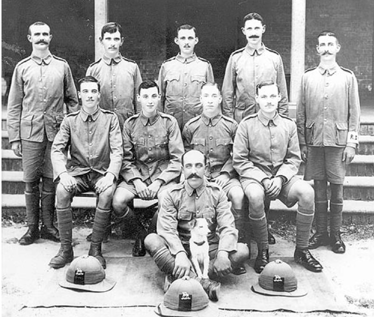 Signal Platoon, 1/5th Bn The Queen's Royal Regiment, Lucknow, India 1915.