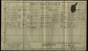 Robert Dodman 1911 Census © Ancestry.co.uk