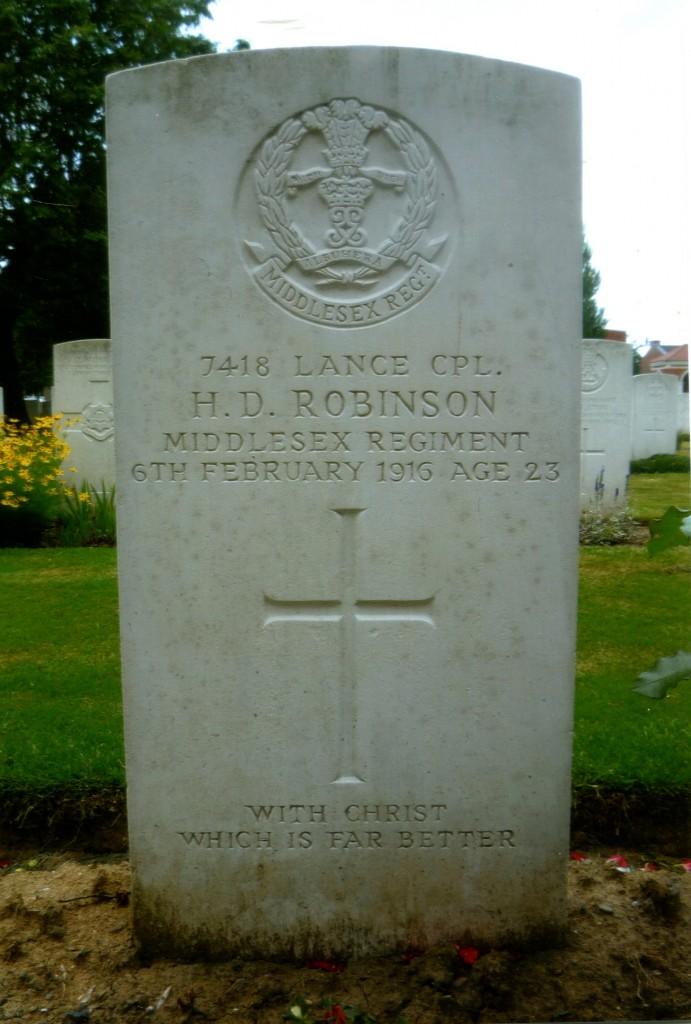 Lance Cpl. H.D Robinson
