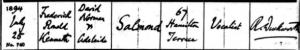 Ronald Salmond Baptism