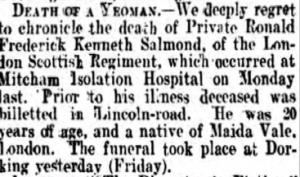 Frederick Salmond Death Notice