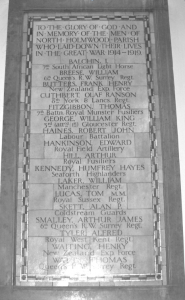 North Holmwood Church War Memorial